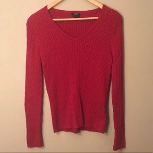 Talbots Pima Cotton Red Sweater